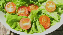 MS PAN SALAD IN BOWL Stock Footage