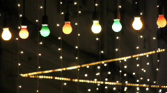 night club decorated with lights and adornments for christmas 3 - stock footage