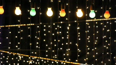 Night club decorated with lights and adornments for christmas 4 Stock Footage
