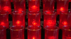 Prayer Candles Stock Footage