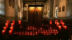 Church and Prayer Candles Stock Footage