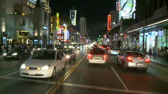 Car Mounted Driving Camera Night Drive - Hollywood - Time Lapse - stock footage
