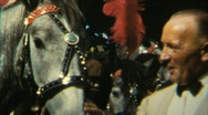 Circus Artist Man and horses - Vintage 8mm Film Stock Footage