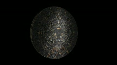 Stock Video Footage of Rotating Aztec/mayan Calendar Double Sided