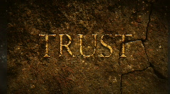 Trust old text - stock footage