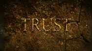 Stock Video Footage of Trust old text
