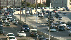 Big City Traffic - Los Angeles - 405 Freeway - Time Lapse - Clip 5 - stock footage