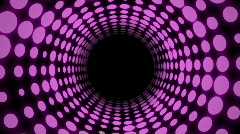 Colorful Disco Tunnel (24fps) Stock Footage