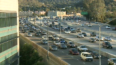 Big City Traffic - Los Angeles - 405 Freeway - Time Lapse - Clip 6 Stock Footage