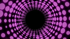 Colorful Disco Tunnel (30fps) Stock Footage