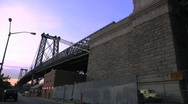 Stock Video Footage of Time Lapse -Williamsburg Bridge, Sunset