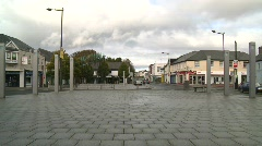 Market Square Castlebar, Ireland Stock Footage