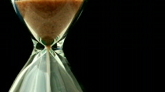 Hourglass close up - stock footage