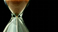 Hourglass close up Stock Footage