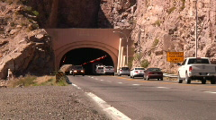 Pass Pass Through the Queen Creek Tunnel in Arizona - stock footage