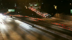 LA Highway Overpass - HD 1920x1080 JPEG B Stock Footage