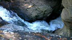 Water flowing thru rocks Stock Footage