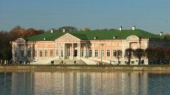 Palace at the museum Kuskovo Stock Footage