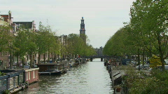 LS OF PRINSENGRACHT CANAL Stock Footage