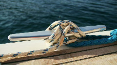 Sailing: Cleat on sailing boat (HD) Stock Footage