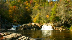 Linville falls autumn01 Stock Footage
