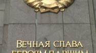 HD1080i Soviet War Memorial in Berlin (Tiergarten) Stock Footage