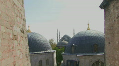 ZI OF THE BLUE MOSQUE FROM HAGGIA SOPHIA ISTANBUL TURKEY Stock Footage