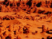 Stock Video Footage of Goblin Valley HS 05 Pan