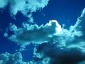 High Speed Camera : Blue Sky Pan 02 360 Stock Footage