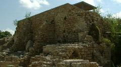 Caesarea antiquities tilt 1 Stock Footage
