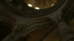 PAN OF THE MOSQUE HAGGIA SOPHIA ISTANBUL TURKEY Stock Footage