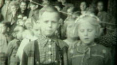 1940s Kids dancing spectacle P.1 - Vintage 8mm Film - stock footage