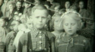 Stock Video Footage of 1940s Kids dancing spectacle P.1 - Vintage 8mm Film
