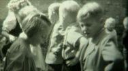Stock Video Footage of 1940s Kids dancing spectacle P.2 - Vintage 8mm Film