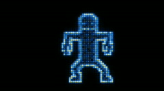 LED Dancer Blue. Stock Footage
