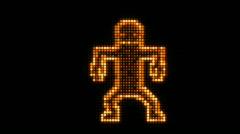 LED Dancer Orange. - stock footage