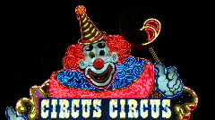 Circus Circus Neon Sign in Las Vegas.  - Clip 2 of  20 - stock footage
