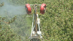 orchard sprayer  - stock footage