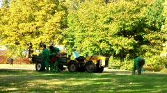 Gardeners working - stock footage