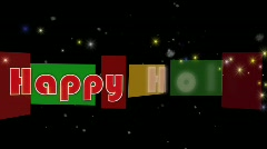 Holiday Greeting with alpha channel Stock Footage