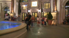 Las Vegas People at Night  - Time Lapse - Clip 8 of 12 Stock Footage