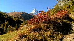 Viewing the Matterhorn Stock Footage