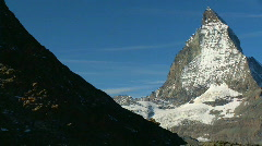 Helicopter & the Matterhorn Stock Footage