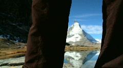 Matterhorn Lake, Switzerland Stock Footage