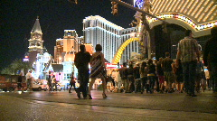 Las Vegas People at Night  - Time Lapse - Clip 5 of 12 Stock Footage