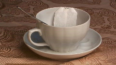 Tea in bag. Stock Footage