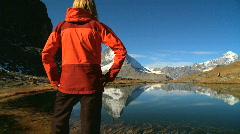 Matterhorn Lake, Switzerland - stock footage