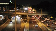 Stock Video Footage of Fast Motion - Night Traffic in Washington DC in HD Tons of Cars Driving