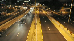 Timelapse Fast Motion Night Traffic in Washington DC in HD Tons of Cars Driving - stock footage