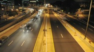 Stock Video Footage of Timelapse Fast Motion Night Traffic in Washington DC in HD Tons of Cars Driving